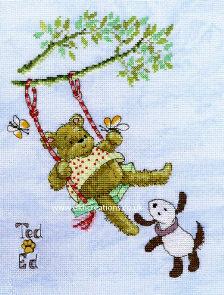 Ted & Ed Flying High Margaret Sherry Cross Stitch Kit
